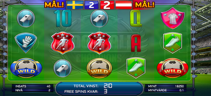 Football: Champions Cup Free Spins
