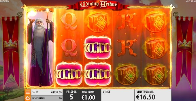 Mighty Arthur slot Free Spins