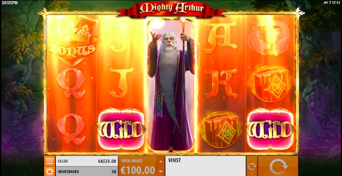 Mighty Arthur slot Bonus