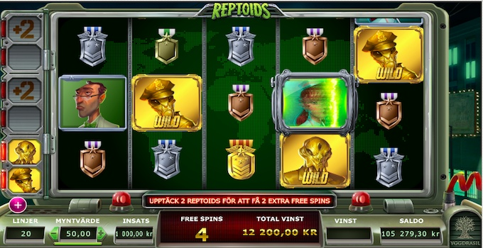 Reptoids Free Spins